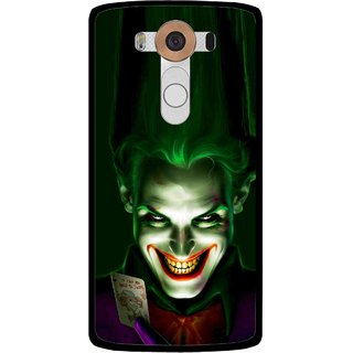 Snooky Printed Loughing Joker Mobile Back Cover For Lg V10 - Multi