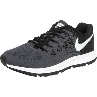 Nike Volt Noir Mens Black White Lace-up Sport Shoes