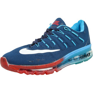 Nike Noir Mens Blue Lace-up Sport Shoes