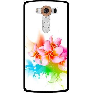 Snooky Printed Colorfull Flowers Mobile Back Cover For Lg V10 - Multi