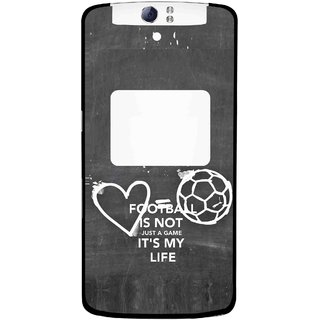 Snooky Printed Football Life Mobile Back Cover For Oppo N1 - Multi