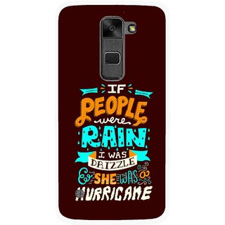 Snooky Printed Monsoon Mobile Back Cover For Lg Stylus 2 - Multi