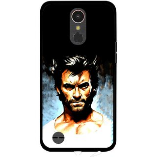 Snooky Printed Angry Man Mobile Back Cover For LG K10 2017 - Multi