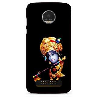 Snooky Printed God Krishna Mobile Back Cover For Moto Z - Multi