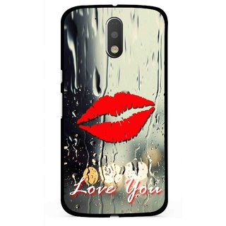 Snooky Printed Love You Mobile Back Cover For Moto G4 Plus - Multi