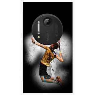 Snooky Printed Badminton Mania Mobile Back Cover For Nokia Lumia 1020 - Multi