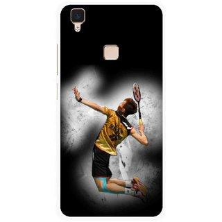 Snooky Printed Badminton Mania Mobile Back Cover For Vivo V3 - Multi