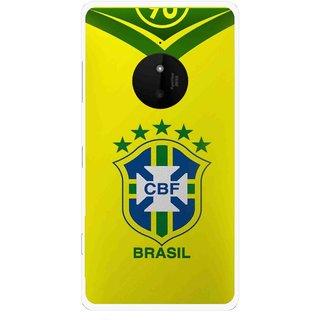 Snooky Printed Brasil Mobile Back Cover For Microsoft Lumia 830 - Multi