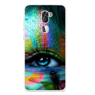 Snooky Printed Designer Eye Mobile Back Cover For Coolpad Cool 1 - Multi