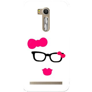 Snooky Printed Pinky Girl Mobile Back Cover For Asus Zenfone Go ZB551KL - Multi