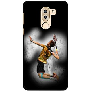 Snooky Printed Badminton Mania Mobile Back Cover For Huawei Honor 6X - Multi