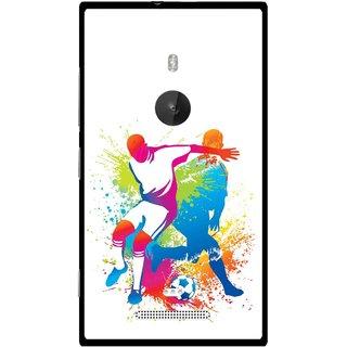 Snooky Printed Footbal Mania Mobile Back Cover For Nokia Lumia 925 - Multi