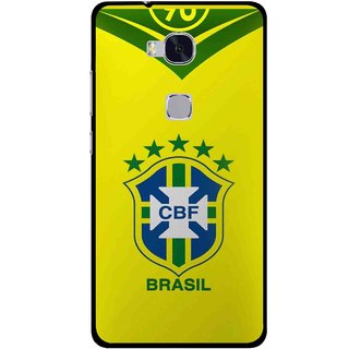 Snooky Printed Brasil Mobile Back Cover For Huawei Honor 5X - Multi