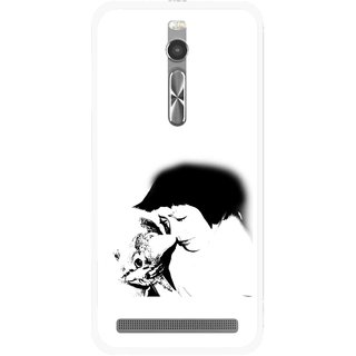 Snooky Printed Pet Lover Mobile Back Cover For Asus Zenfone 2 - Multi
