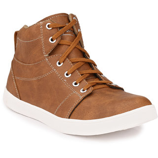 Knoos Men'S Synthetic Leather Rocking Sneaker Boots