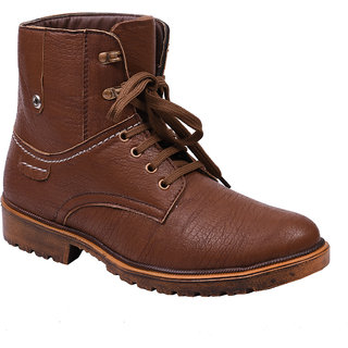 Knoos Mens Wav911-Tan Synthetic Leather Boot