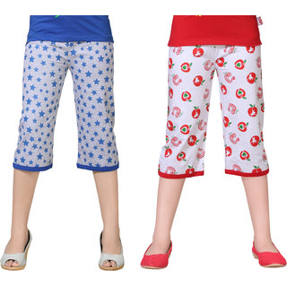 Sini Mini Capri For Baby Girls (Multicolor Pack Of 2)