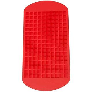 Futaba 160 Cavity Silicone Mini Ice Cube Tray - Red