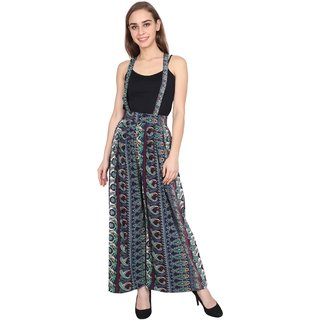 9cdf3b7f3df Buy Opalinas multi-colored paisley printed Palazzo dungaree Online - Get  68% Off