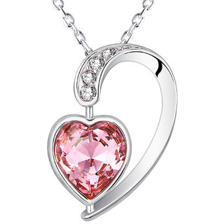 Buy om jewells crystal jewellery half pink heart in heart pendant om jewells crystal jewellery half pink heart in heart pendant enriched with austrian crystal for girls aloadofball Choice Image