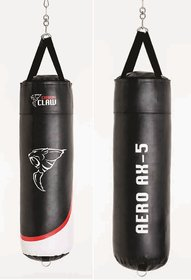 CC-185 PUNCHBAG 4FT X 14 SYN/LEATHER GRAIN FOAM LINED BLK/RED