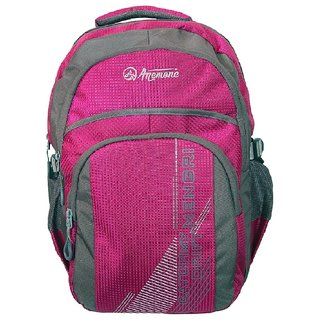 Anemone Polyester 27 Ltr Backpack/School Bag 02 (Pink)