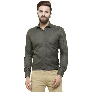 781e4f1d3626 Buy RG Designers Olive Solid Slim Fit Full Sleeve Cotton Formal Shirt  Online - Get 60% Off