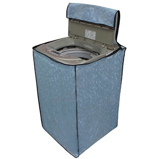 Glassiano Sky Blue Colored Washing Machine Cover For Whirlpool Bloomwash World Series Fully Automatic Top Load 8 Kg
