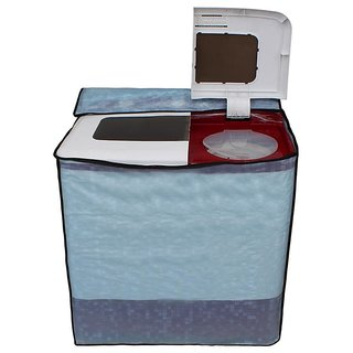 Glassiano Sky Blue Colored Washing Machine Cover for Panasonic Semi Automatic all models