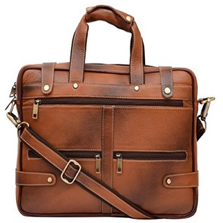 O Ostrich Leather Laptop Bag 0029