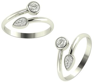 PeenZone 92.5 Silver Toe Rings For Women & Girls