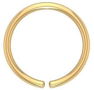 PeenZone 18k Gold Plated Nose Ring (Bali) For Women  Girls