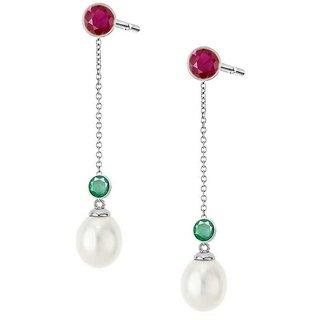 PeenZone 92.5 Silver Fashion Sui Dhaaga Ear Tops (Stud Earrings) For Women  Girls