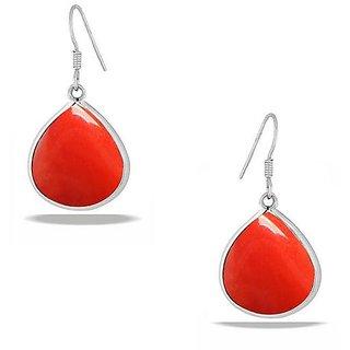 PeenZone 92.5 Silver Coral Drop Earrings For Women  Girls