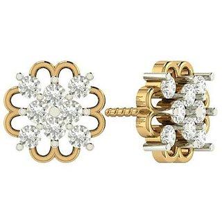 PeenZone 18k Gold Plated Flower Ear Tops For Women  Girls