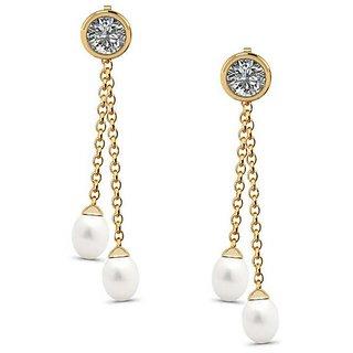 480d4c951d43a PeenZone 18k Gold Plated Fashion Sui Dhaaga Ear Tops (Stud Earrings) For  Women Girls