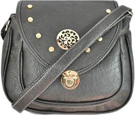 DNA Infinity Black Elegant Leatherette Designer Trendy  Stylish Sling bag / Crossbody bag For Girls /Womens (DIY20)