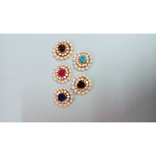 Laxmi Fancy Pearl with Flower Button Set of 6 pics