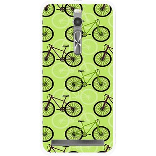 Snooky Printed Cycle Mobile Back Cover For Asus Zenfone 2 - Multi