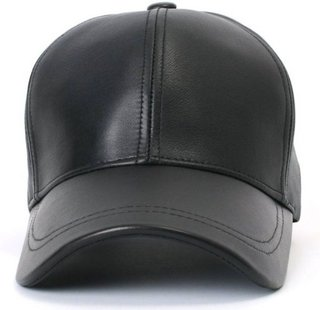 Classic Look Fashionable Look With Black Baseball Leather Cap