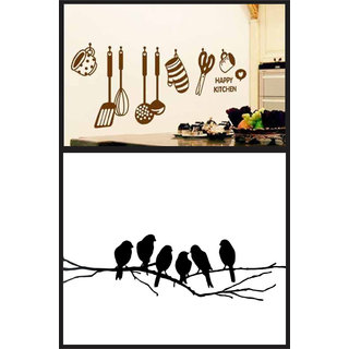Wall dreams Kitchen tools with sparrow on branch