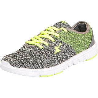 Sparx Womens Grey Green Mesh Running Walking Training Gym Shoes