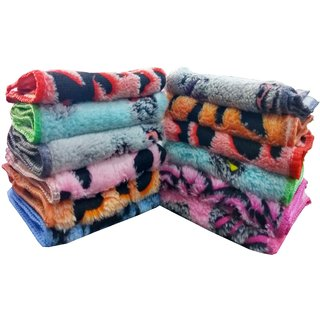 angel homes cotton face towels- set of 12
