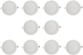 Bene LED 6w Round Slim Panel Ceiling Light, Color of LED White (Pack of 10 Pcs)