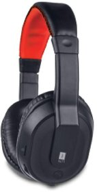 iBall musitap Over Ear Headset with Mic Black, Red