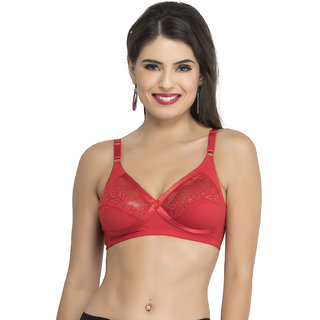 College Girl Red Full Coverage Bra ( Pack of 1 )