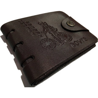 angel home stylish black wallet (Synthetic leather/Rexine)