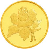 Rose 20 grams 995 24 kt Gold Coin