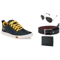 Lavista Men's Blue Casual Shoe Combo
