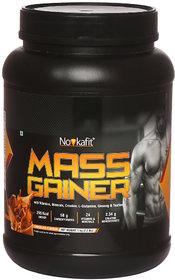 Novkafit Mass Gainer with Creatine, L-Glutamine, Ginseng, 24 Vitamins  Minerals  1 kg (2.2 lbs), Chocolate Flavour